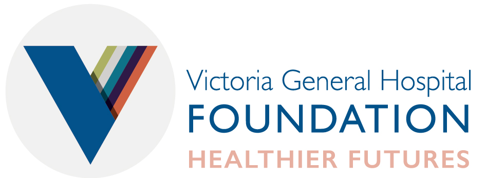 The Vic Foundation logo with tag